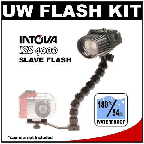 Intova ISS 2000 Underwater Slave Flash with StaySlim Bracket and Flex Arm
