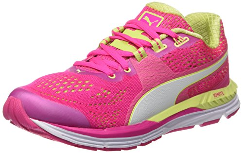 PumaSpeed 600 Ignite - Scarpe Running Donna , Rosa (Rose (Pink Glo/Sharp Green/White)), 39