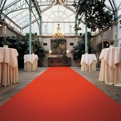 Roter Teppich - Hochzeitsteppich - VIP Teppich (4,50EUR/m&#178;) - 1,00m breit