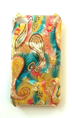 Metallic Paisley Plastic Hard Back Case Cover for iPhone 4 iPhone 4s – Pattern Varies