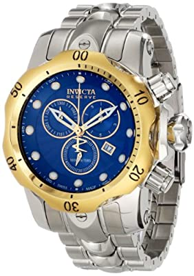 Invicta Men's 10798 Venom Analog Display Swiss Quartz Silver Watch