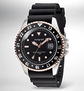 Autograph Water Resistant Diving Bezel Analogue Watch