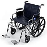 Medline Excel Extra-Wide Swing Away Foot Wheelchairs, RDLA, 22 Inch