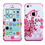 Product B00JJIC84U - Product title MyBat TUFF Hybrid Phone Protector Cover for iPhone 5c - Retail Packaging - Spring Flowers/Electric Pink