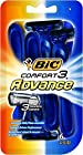 Bic Comfort 3 Advance Disposable Razor for Men,  4-Count