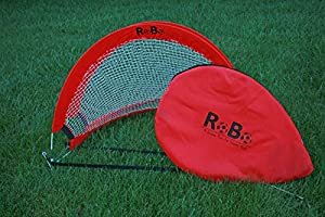 Robo 4 Footer Portable Training Goal Boxed Set (Two Goals & Bag) (Red)