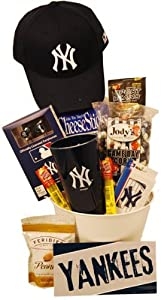 New York Yankees Gift Basket by Tasteful Treats & Treasures Gift Baskets