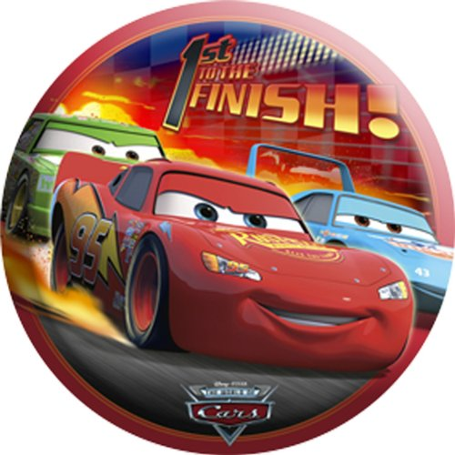 Disneys World Of Cars Light Up Button
