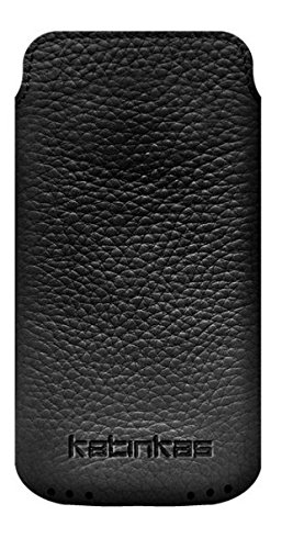 Click to buy Katinkas USA 2108043650 Leather Pouch for Desire S, Wildfire, iPhone 3, LG One P503, Motorola Atrix, Nokia N8, Nokia X7, i9000 - 1 Pack - Carrying Case - Retail Packaging -   Soft - Black - From only $33.99