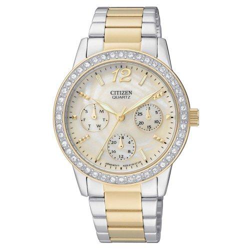 Citizen Quartz Swarovski Crystal Pearl Dial Women'S Watch - Ed8094-52N