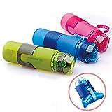 CAMTOA Faltbare Flexible Trinkflasche Wasserflasche Anti-Rutsch.Silikon 650ml