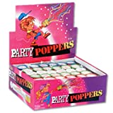 "Party Poppers - Pull the string & bang-watch the streamers fly! (72 pieces per display unit). (Size 2"")"