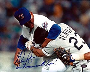 Nolan Ryan Autographed 8x10 Photo Texas Rangers Don