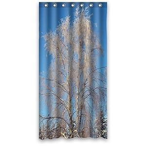 Amazon com birch tree polyester bathroom shower curtain 36 w x72 h