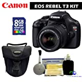 Canon EOS Rebel T3 Digital Camera w/18-55mm IS II Lens Value Kit