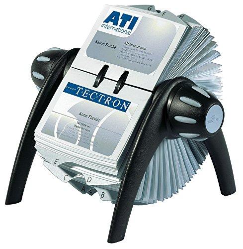 durable-241701-visifix-flip-fichier-rotatif-pour-400-cartes-de-visite-avec-index-25-touches-noir-gri