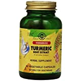 Solgar Standardized Turmeric Root Extract Vegetable Capsules, 60 Count