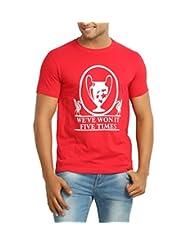642 Stitches Men's Round Neck Cotton Champions 5 Times T-Shirt