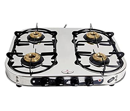kia Model Steel Gas Cooktop (4 Burner)