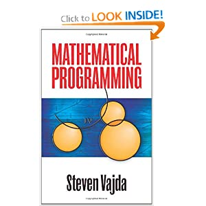 Mathematical Programming (Dover Books on Computer Science) Steven Vajda
