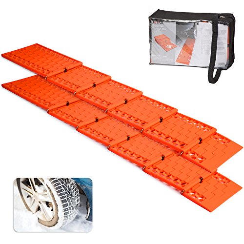 Discover Bargain Jumbl all-weather Foldable Auto Traction Mat tire grip aid, Best Summer Mud Chain t...