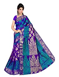 MAKEWAYIN Jacquard Royal Look Silk Womens Brand Kanjivaram New Ethnic Fashion Partywear Saree