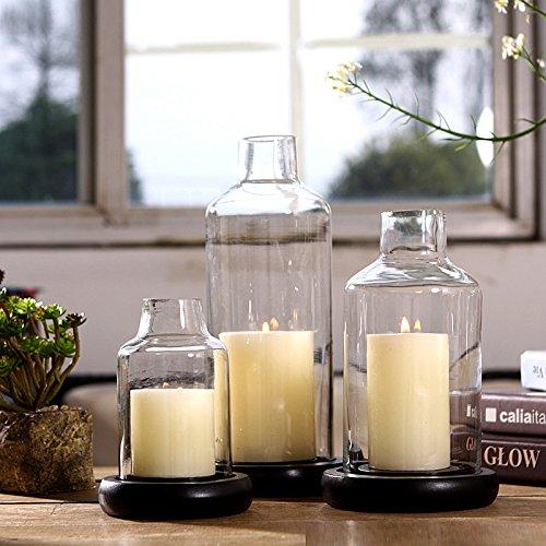 qwer Moderno e minimalista candelabro di vetro ornamenti cena a lume di candela matrimonio Qingsheng, puntelli modello camera arredata , piccole candele 6*6cm