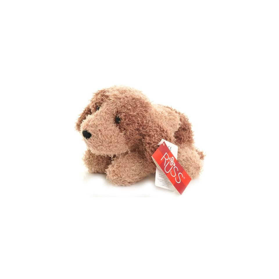 Russ Puppy light and dark brown curly Plush called Scruffy [Toy]