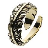 【セノーテ】 cenote r7008 【ブラスアクセサリー リング・指輪】 真鍮 フェザーリング 羽根 フリーサイズ メンズリング