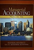 Selected Material From Managerial Acccounting Suffolk University MBA 640