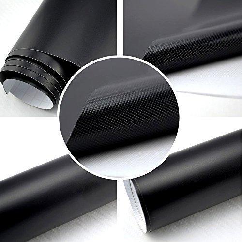autofolie matt schwarz blasenfrei 0 3m x 1 52m mit luftkan le 3d flex. Black Bedroom Furniture Sets. Home Design Ideas