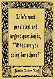A4 Size Parchment Poster Quotation Martin Luther King Persistant