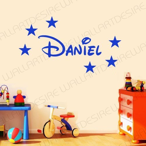 disney-style-personalised-name-stars-bedroom-vinyl-wall-art-decal-sticker-14-colours-available-pleas
