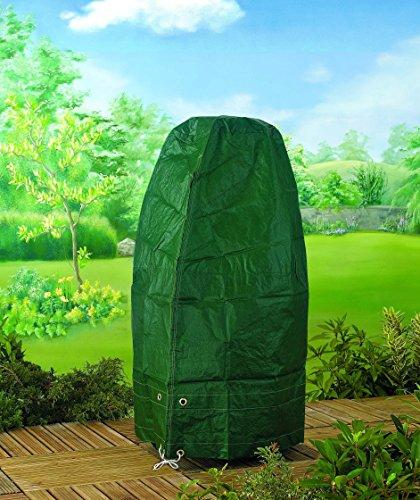 Kamin Abdeckhaube Schutzhülle Schutzplane Abdeckplane Ofen Kaminofen Steingrill - aus reißfestem gewobenem 130 gsm PE-Gewebe hergestellt - detaillierte Maße: 100cm hoch, 60cm breit, 37cm tief