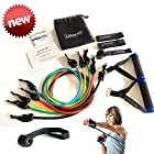 Premium Heavy Duty Resistance Bands. Elastic Exercise Bands with Door Anchor Lifetime Guarantee by Peak Win Athletics