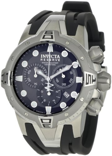 Invicta Men's Sea Excursion Chronograph Watch 0645 with Stainless Steel Case, Black Dial and Black PU Strap