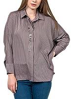 IRONI Camisa Mujer (Marrón)