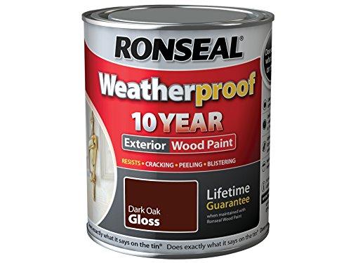 ronseal-rslwpdog750-750-ml-weatherproof-exterior-wood-paint-dark-oak-gloss
