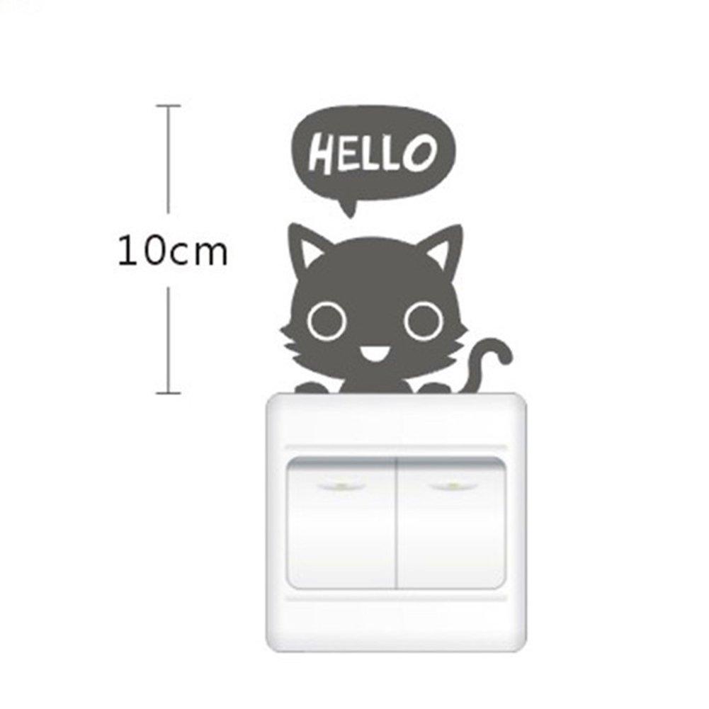 BESTIM INCUK store Caliente tatuajes de pared pegatina de interruptor gato mascota la habitaciš®n de los Los ni?os vinilo   Revisión del cliente y más noticias