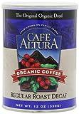 Cafe Altura Ground Organic Coffee, Regular Roast Decaf, 12 Ounce (Pack of 3)