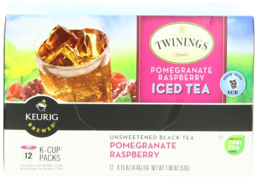 Twinings Iced Tea K-Cups, Pomegranate Raspberry,  12 count