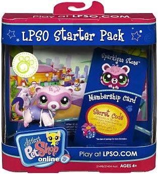 HASBRO LITTLEST PET SHOP PETSHOP LPSO STARTER PACK FURET 1700 ferret + code on line