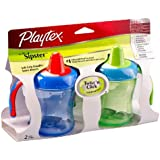 Playtex The First Sipster Spill-Proof Cup, 7 Ounce, Colors Vary (Pack of 2)