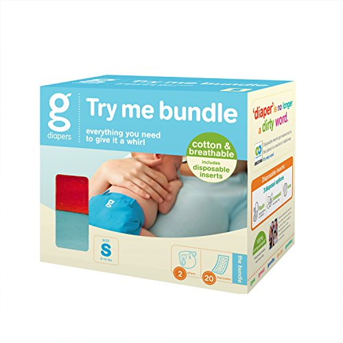 Gdiapers Try Me Bundle (Compostable Diaper Inserts compare prices)