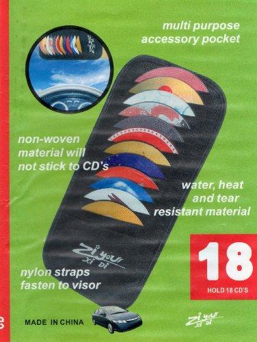 18 Indigo Black CD/DVD Carry Case Visor Organisor