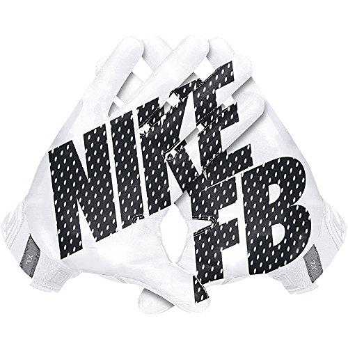 Men's Nike Vapor Jet 3.0 Football Gloves White/Black Size Small (Nike Vapor Jet Small compare prices)