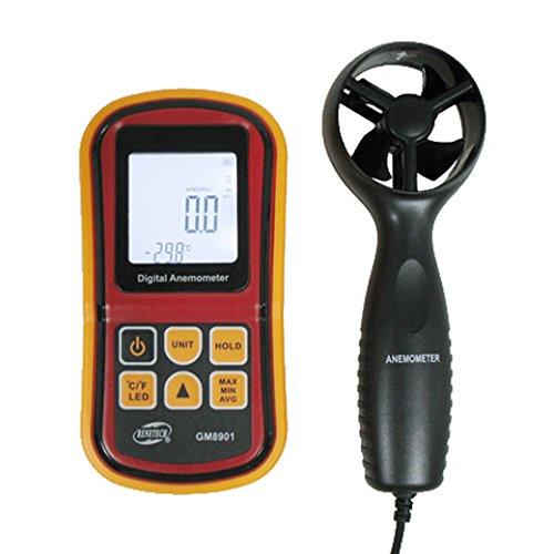 BENETECH GM8901 LCDデジタル 風速計 高精度風量計風温度計 -10 to 45 C Anemometer