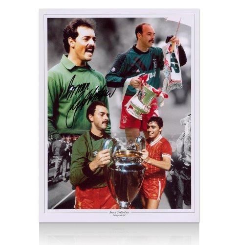 Bruce Grobbelaar hand signed Liverpool FC photo
