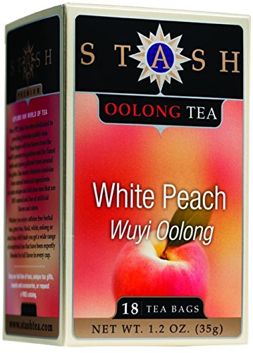 Stash Tea Wuyi Oolong Teas White Peach 18 Tea Bags (Pack Of 4)