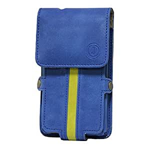 Jo Jo A6 Nillofer Series Leather Pouch Holster Case For Alcatel Pop S9 Dark Blue Parrot Green